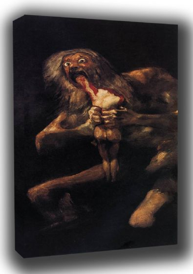 Goya, Francisco de: Saturn Devouring his Son. Fine Art Canvas. Sizes: A3/A2/A1 (0022)